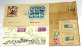 3 USA Stamps Postage #735 FDC #797 Registered #795 #798 Caravan Cover Co... - $50.40