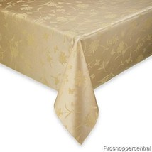 "NEW Spring Meadow Damask 60"" x 104"" Oblong Tabl... - $19.99"
