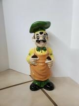 Vintage Ceramic Chef Man Utensil Holder Display - $19.80