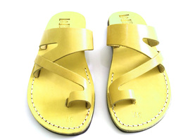 Leather Sandals for Men and Women JERICHO by SANDALIM Biblical Greek Sum... - $39.44 CAD+