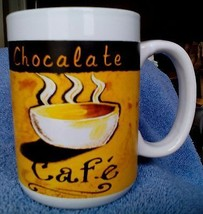 Royal Norfolk Chocalate  Cafe Latte Black and White and yellow LARGE Cof... - $6.45