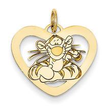 Disney Collection 14K Yellow Gold Disney Tigger Heart Charm Pendant - $193.65