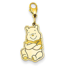 Disney Collection Silver Gold Plated Winnie The Pooh Lobster Clasp Charm - $53.11