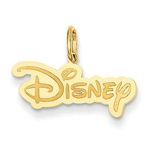 Disney Collection 925 Sterling Silver Gold Plated Disney Logo Charm - $36.91