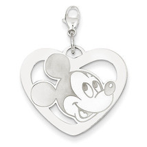 Disney Collection 925 Sterling Silver Disney Mickey Heart Lobster Clasp ... - $61.80