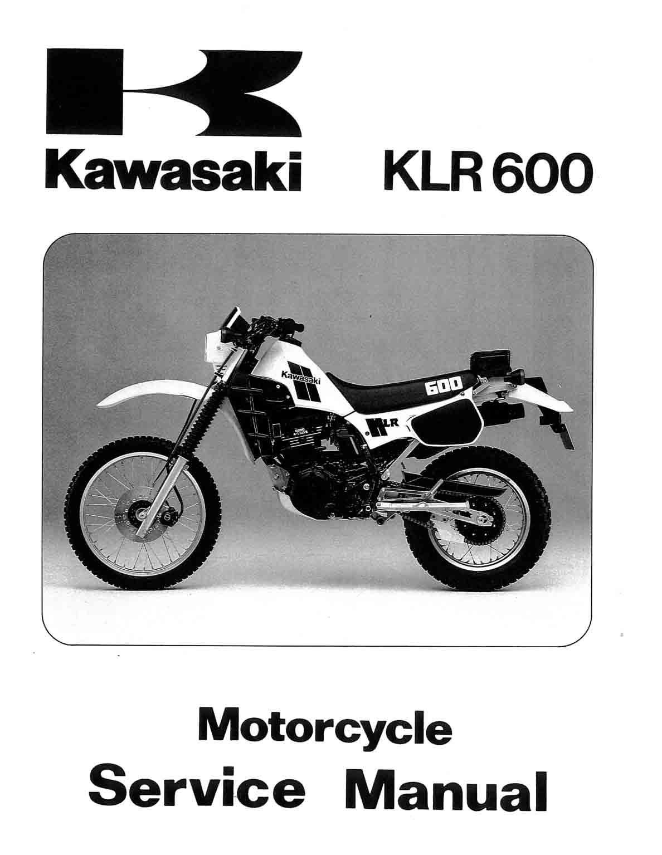 ... 1994 1995 2000 2001 Kawasaki KLR650 KLR 650 Shop Service Repair Manual  KL650 CD