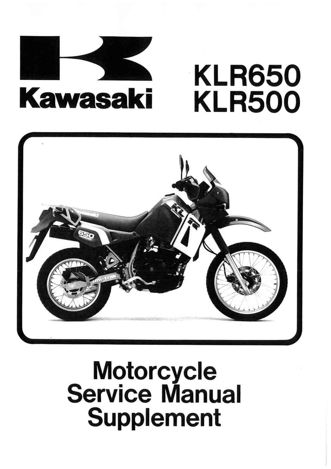 Kawasaki klr500 1987 1988 klr650 1987 2005