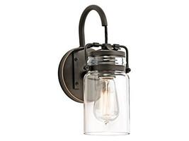 Industrial Glass wall sconce Porch Light Fixture Mason Jar Sconce - $119.90