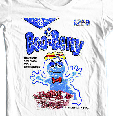 Boo-Berry Cereal box T-shirt Frankenberry Count Chocula 1980's 100% cotton tee