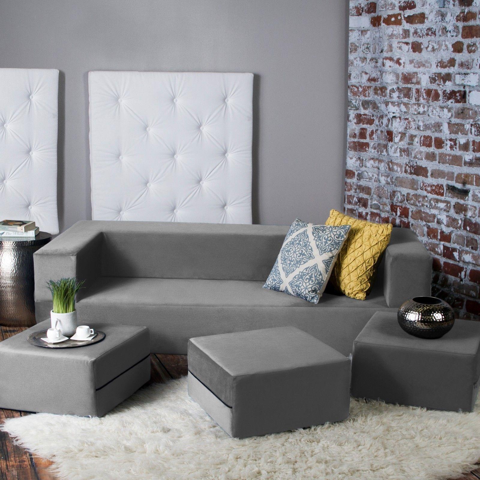 zipline convertible sleeper sofa ottomans and 50 similar items. Black Bedroom Furniture Sets. Home Design Ideas