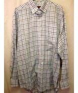 Vineyard Vines Shirt XL White Blue Plaid Murray Shirt Long Sleeve Button... - $54.99