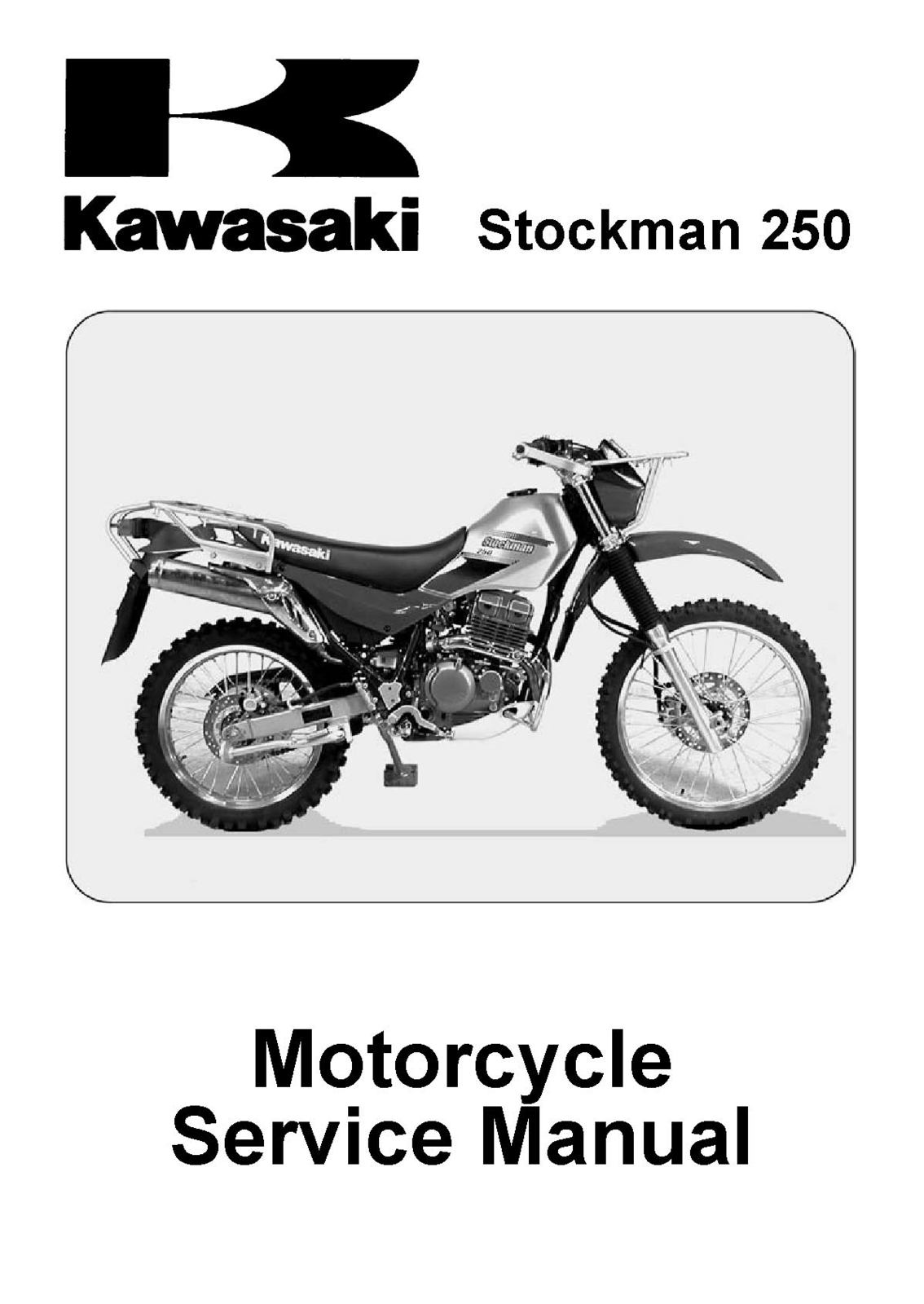 Kl250 stockman 250. Kl250 stockman 250. 2003 2004 2005 2006 2007 Kawasaki  KL250 KL 250 STOCKMAN Service Repair Manual ...