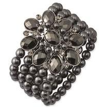 Black & Hematite Acrylic Beads Black Plated 192... - $42.10
