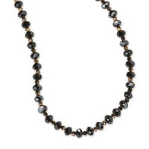 "Black & Brown Glass Beads 16"" + 3"" Extension Bl... - $31.57"