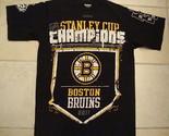 NHL Boston Bruins 2011 Stanley Cup Champions Black T Shirt Men's size S