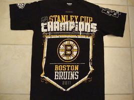 NHL Boston Bruins 2011 Stanley Cup Champions Black T Shirt Men's size S - $17.56