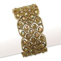 Ladies Olive Acrylic Beads Brass Tone 1928 Bout... - $42.10