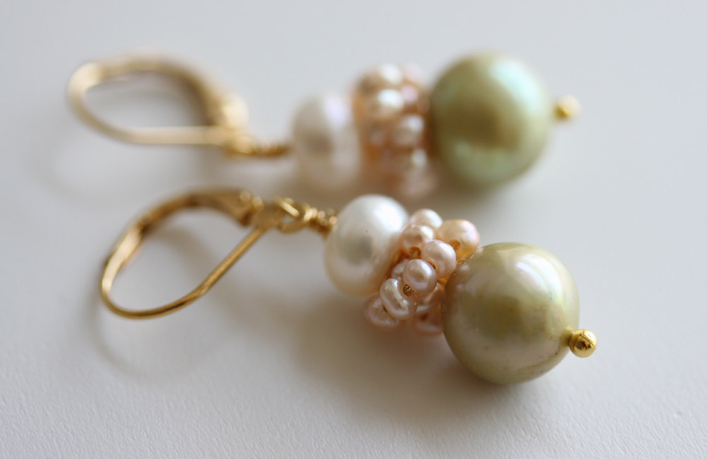 Pearl Earrings Bridal Earrings  Bridal Jewelry Freshwater Pearl Earrings