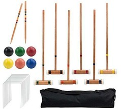 Complete Summer Fun 6-Player Outdoor Croquet Se... - $134.68