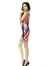 Pop Singer Drawing One-Piece Mini Skirt Bodycon Stretchy Fashionable Dress - $18.99