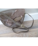 Vintage Bally Crossbody Bag Purse Grey Suede Sn... - $280.49