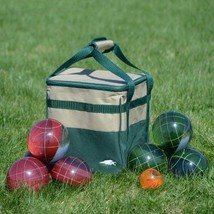 Durable Resin 2 Player Red Green Bocce Ball Out... - $93.52