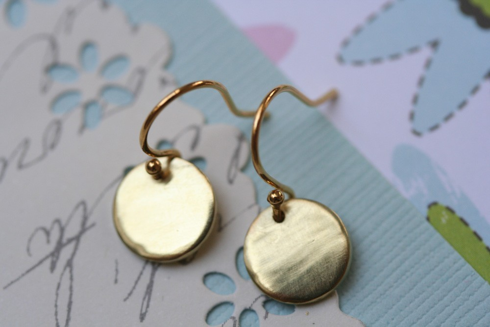 Disc Earrings, FREE with 2 purchases,Tiny Disc Earrings, Simple Earrings
