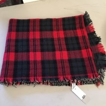 "NWT Nordstrom BP Reversible Acrylic Red Black Plaid Winter Scarf 74""x31""... - €30,38 EUR"