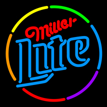 Miller Lite Multi Color Circle Neon Sign - $699.00