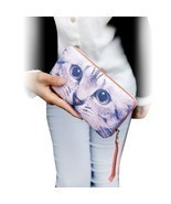 Samaz Girls Cute Cat Floral Wallet Long Clutch ... - $350,82 MXN