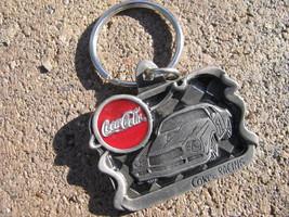 VTG Keychain Keyring FOB Pewter Licensed COKE COCA COLA Racing 1997 - $29.68