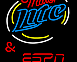 Miller lite and espn served here neon sign 20  x 20  thumb155 crop