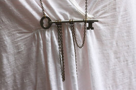 FREEDOM KEY Necklace Skeleton Key Necklace  Antique Key Necklace Vintage... - $32.00