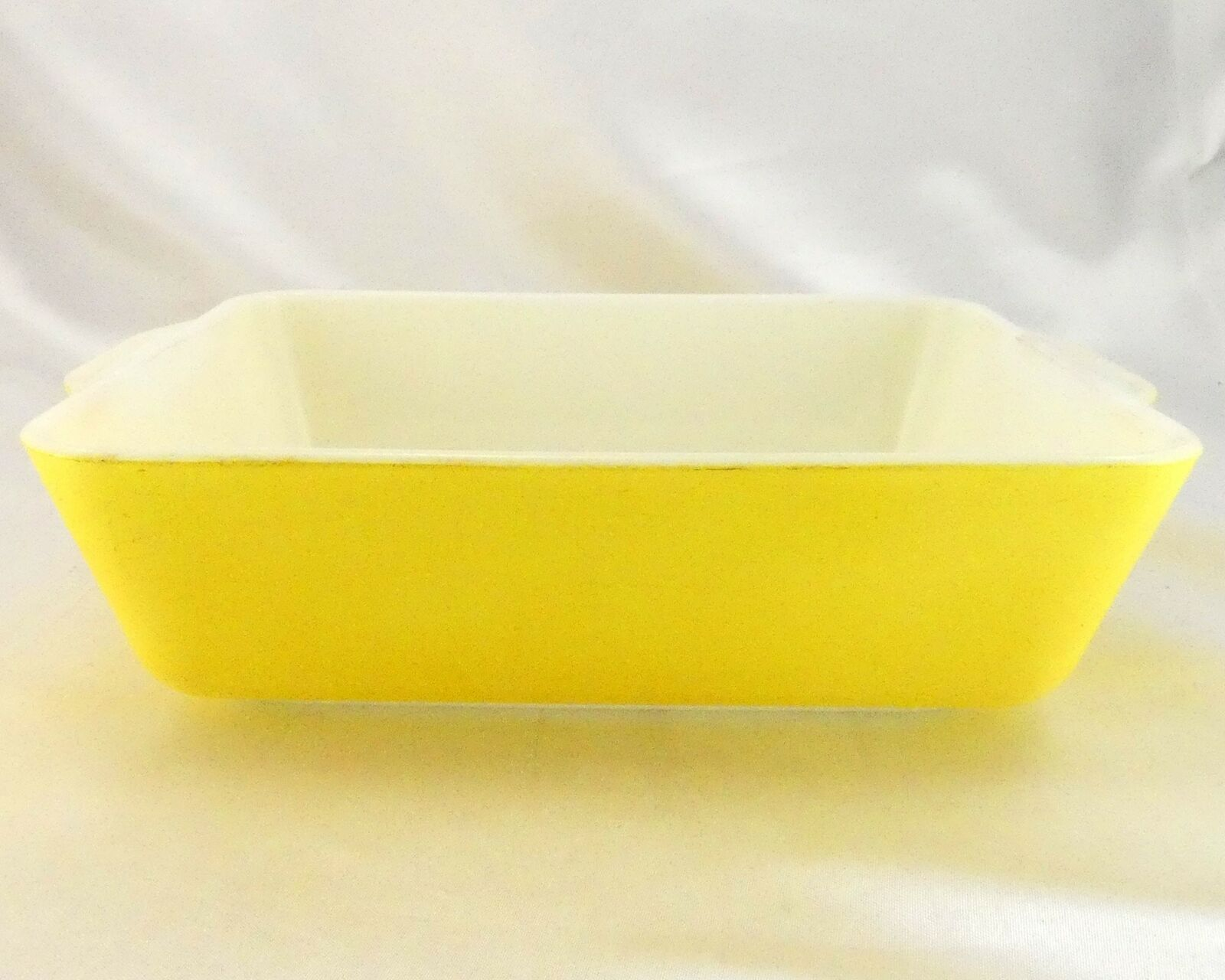 Pyrex 503 Banana Yellow Fridge Dish Milk Glass w/ Lid Made in the USA image 6