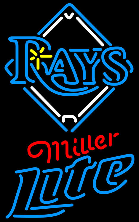 Primary image for Miller Lite MLB Tampa Bay Rays Neon Sign