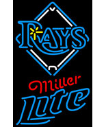 Miller Lite MLB Tampa Bay Rays Neon Sign