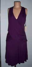 Nanette Lepore Oonagh Draped Jacques Dress  Small Plum NWT $188 - $120.71 CAD