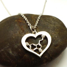 New Unique Heart Serotonin Molecule Necklace - Science and Chemistry Gif... - $49.00