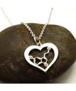 New Unique Heart Serotonin Molecule Necklace - Science and Chemistry Gif... - $49.00