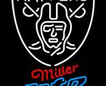 Miller lite nfl oakland raiders neon sign 16  x 16  thumb155 crop