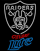 Miller Lite NFL Oakland Raiders Neon Sign - $699.00
