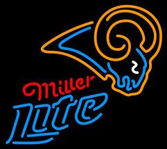 Miller Lite NFL St Louis Rams Neon Sign - $799.00