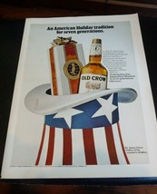 1969 Old Crow: An American Holiday Tradition Vintage Print Ad MAN CAVE ART - $6.80