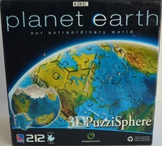 Sure-Lox ~ Planet Earth ~ 212 Piece 3D Puzzi Sphere ~ Puzzle ~ New Sealed - $29.95
