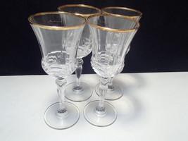 4 RCR Gold Aurea Wine Stems - $24.95