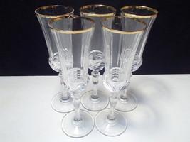 5 RCR Gold Aurea Champagne Flutes - $24.95
