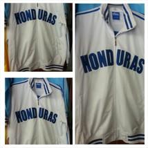 Honduras White Blue Soccer Jacket Honduras long sleeve soccer track jack... - $33.24