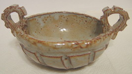 Studio Art Pottery Bowl Hand Built Industrial Look Signed OOAK - $84.64