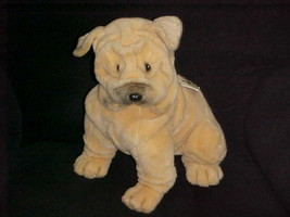 "14"" Avanti  Shar Pei Plush Dog Toy With Tags By Jockline Italy 1987 - $93.49"