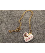 Kiln Fired Hp Heart Necklace Patricia - $4.99